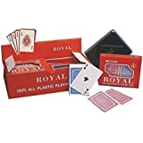 Vinsani Royal Ensemble de 2 jeux de cartes 100 % plastique pour parties de poker