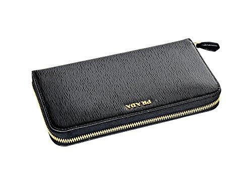 Prada Womens 1ML506 2BNC Vitello Move BI Leather Wallet Nero (Black)