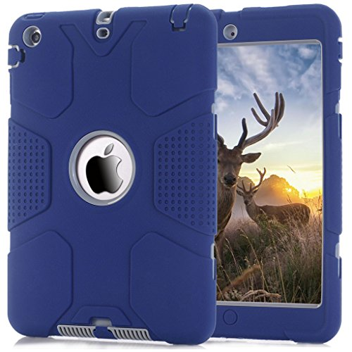 iPad Mini Case, iPad Mini 2 Case,iPad Mini 3 Case, Hocase Robot Series High Impact Resistant Shockproof Case for iPad Mini 1 / 2 / 3 - Navy Blue / Grey (Robot Ipad Mini Case compare prices)