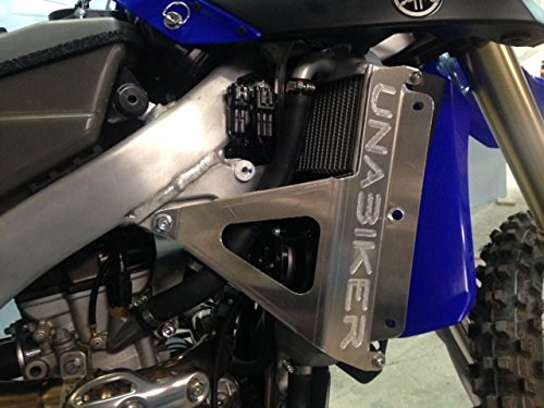 16 Solid Full Face - Unabiker ywr250f15-A YAMAHA 15-16 WR250F Radiator Guards in Aluminum