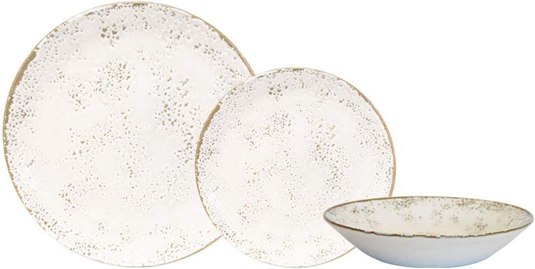 Churchill Umbria White Dinnerware Set, 18 Piece, Made In England