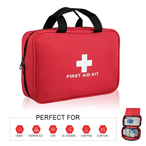 Portable Basic First Aid Kit -100 Pieces – CE FDA Approved Survival Supplies for Home, Office, Car, Travle, Outdoors Emergency Preparedness