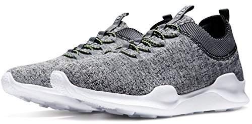 Tesla Unisex Knit Design Running Running Sneakers Performance Shoes E734 Tf-e734-gry