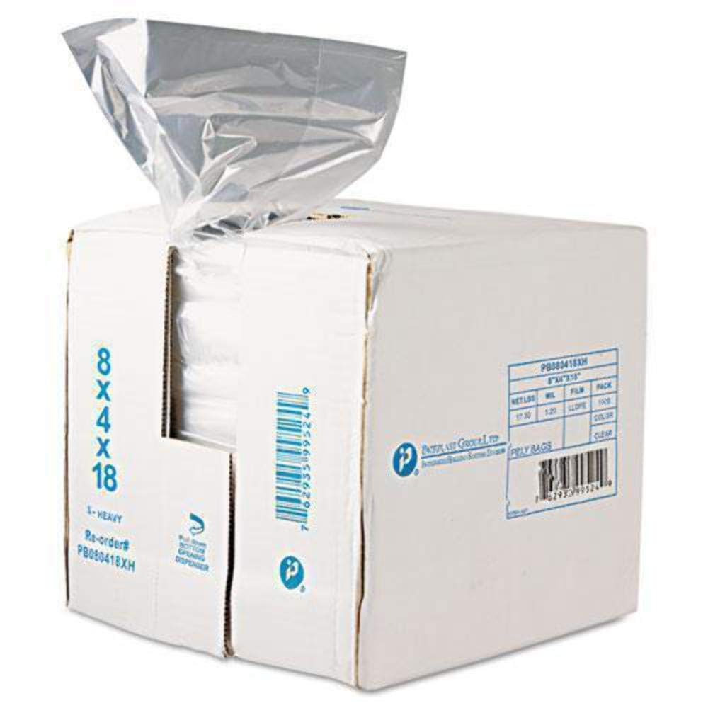 Inteplast Group Get Reddi Food /& Poly Bag 12 x 8 x 30 24-Quart 1.00 Mil Clear
