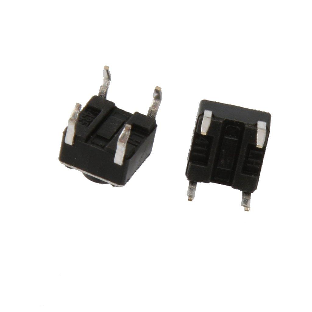 100pcs Interruptor de Bot/ón Pulsador Bot/ón T/áctil Micro Interruptor del Tacto Varios Tama/ños 6x6x5mm