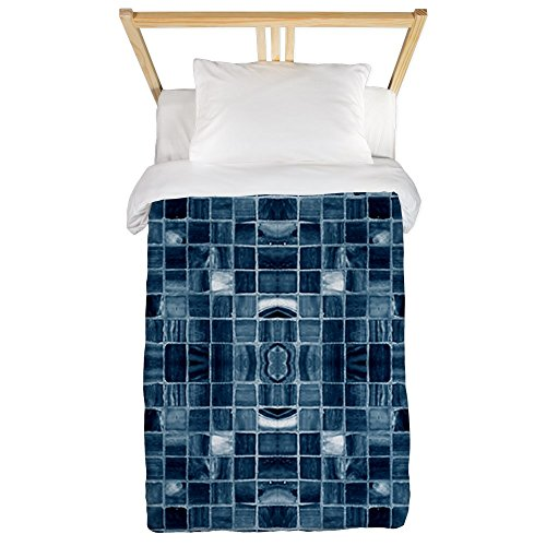 9c7bd3ba262 CafePress - Blue Mosaic Tile Effect Twin Duvet - Twin Duvet Cover ...