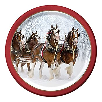 """Creative Converting Budweiser 8 Count Paper Dinner Plates, 8.75"""", Budweiser Clydesdale Pattern"""