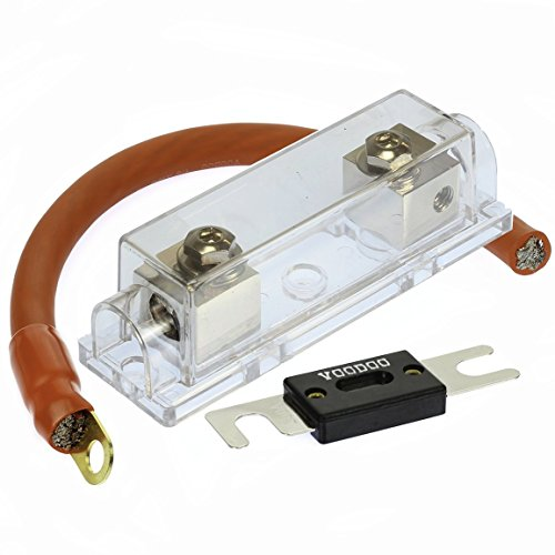 VOODOO (1) 400 AMP ANL Fuse & (1) Inline Fuseholder Battery Install Kit 1/0 Gauge 1FT by VOODOO