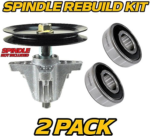 MTD, Huskee (2 Pack) Deck Spindle Bearings Rebuild Kit, LT4200, LT4216, (Mtd Steel Lawn Mower)
