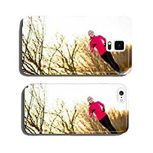 Young woman running outdoors on a cold winter day cell phone cover case iPhone5