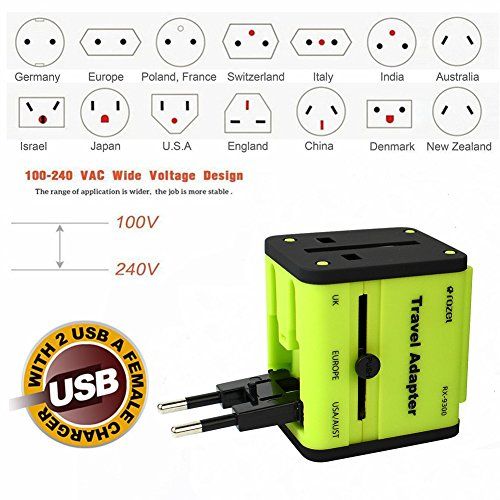 EBAT International Travel Adapter Travel and Converter Surge Protector With US/UK/CN/AU/EU Plug/Socket All-in-One - In Malaysia Sale