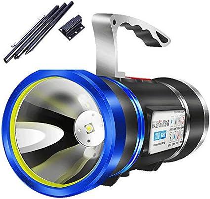 JSX Projecteur /À LED Blanc//Blu-Ray Lumi/ère De P/êche Xenon Plus De 500 M/ètres Batterie Int/égr/ée Au Lithium Rechargeable USB Anti-Moustique,C