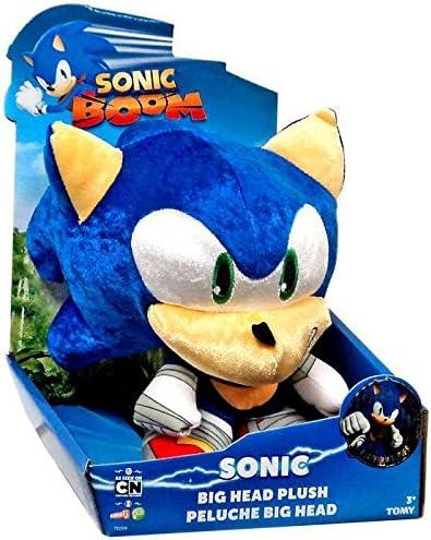 Amazon Com Sonic The Hedgehog Sonic Boom Metallic Sonic Big Head 8 Plush Toys Games