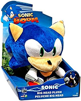 Sonic Boom Head Plush Toy bleu