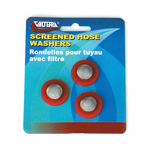 Hose Screened Washer (Valterra W1526VP Screened Hose Washers - Red, Pack of 3)