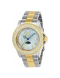 Invicta Women's Sea Base Gold-Tone Steel Bracelet & Case S. Sapphire Quartz White Dial Analog Watch 23831
