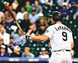 Autographed D.J. LeMahieu 8x10 Colorado Rockies Photo