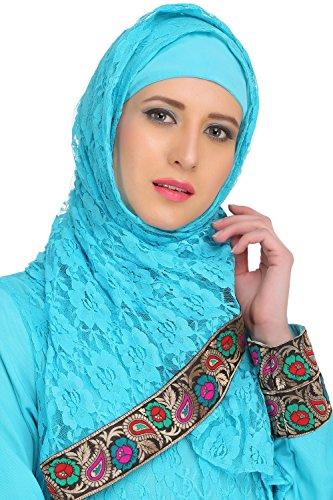 stilvoll abaya net 515 eid tragen moslemisch türkis party amp; crepe AY MyBatua amp; burqa 4Hwq5xf6n