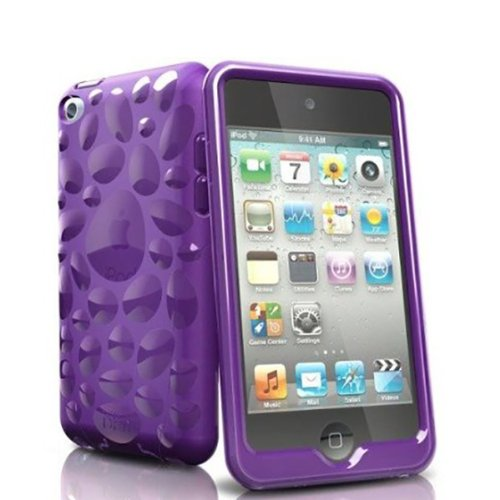 - iSkin TCVBP4-PE4 Pebble TPU Jelly Case for iPod Touch 4G - Purple