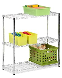 Honey-Can-Do SHF-01606 Three Tier Chrome Storage Shelves, Chrome, 3-Tier