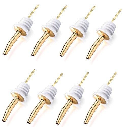 Metal Liquor Pourers Bottle Pourers Golden Color 12 PCS