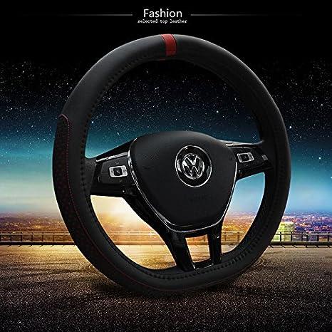HCMAX D Type Vehicle Steering Wheel Cover Car Steering Wheel Protector for Men Women D-shape Diameter 38cm 15 PU Leather Purple