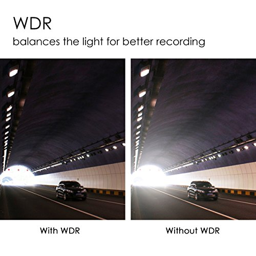 Favoto Dash Cam Full HD 1080P 12 Megapixel Camera 3'' Large LCD Screen 170° Wide Angle Lens Car Camera Recorder with G-Sensor WDR Night Vision Loop Recording Motion Sensor by Favoto (Image #5)