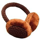 Men Women Soft Earmuffs Winter Earmuffs Musical Ear Warmers, Coffee