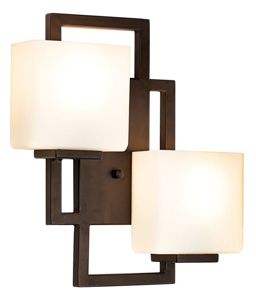 Lighting on the square bronze 15 12 high wall sconce amazon aloadofball
