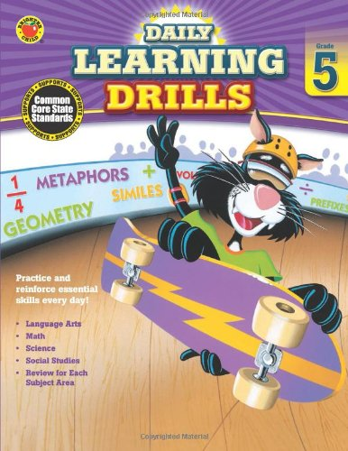 Daily Learning Drills, Grade 5 (Brighter Child: Daily Learning Drills) pdf