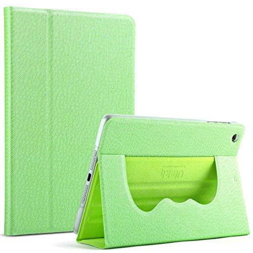 ULAK Ultra Slim 360 Rotating Smart Sleep / Wake Stand Case for Apple iPad Mini 1 / 2 / 3 - Green