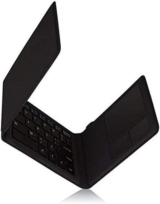 KANEX K166-1128-TOUCH Teclado para móvil Negro QWERTY Bluetooth - Teclados para móviles (Negro, Plástico PU, Resistente a rayones, Trackpad, QWERTY, ...