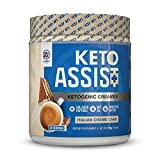 Keto Creamer for Coffee and Tea (30 Servings) - Contains Grass-Fed Butter, Coconut Oil, MCT Oil & Collagen Peptides - Zero Carbs, Easy to Mix, Absorb and Digest, Italian Crème Cake Flavor