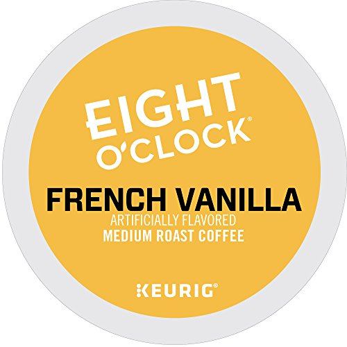 Eight O'Clock Coffee French Vanilla, Single Serve Coffee K-Cup Pod, Medium Roast, (Make French Vanilla Coffee)