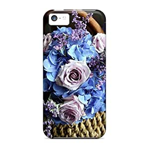 Tpu Shockproof/dirt-proof A Basket Of Flowers Cover Case For Iphone(5c)