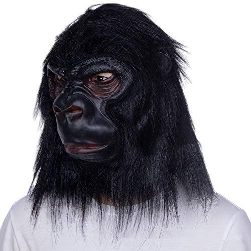 JYJSYM Halloween, Gorilla mask Animal Headgear Halloween Latex mask Horror