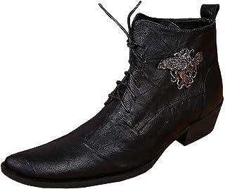 ¥*Shoes Chaussures en Cuir pour Hommes Affaire Bureau a Lacets Casual Antidérapantes Oxford Bottines