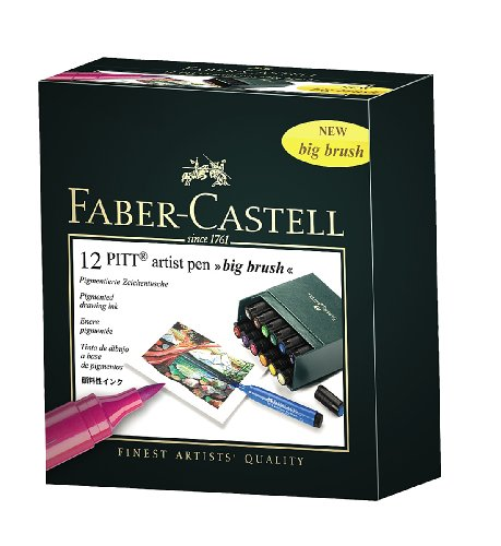 Faber-Castell Pitt Artist Pen Big Brush Set of 12 by PITT