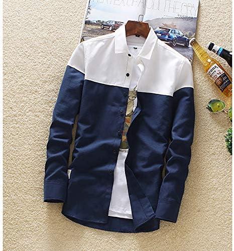 IYFBXl Camisa de Hombre - Collar de Camisa de Color Block, Azul Claro, XXXL: Amazon.es: Deportes y aire libre