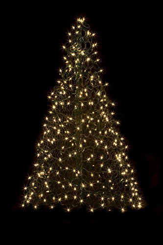 5' Crab Pot Tree w/350 Mini Lights - Clear by Crab Pot Christmas Trees
