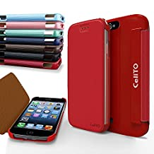 iPhone 4S Case, Cellto MOZ Sophisticated Case [Ultra Slim] Flip Cover for Apple iPhone 4S or iPhone 4 - Hot Pink
