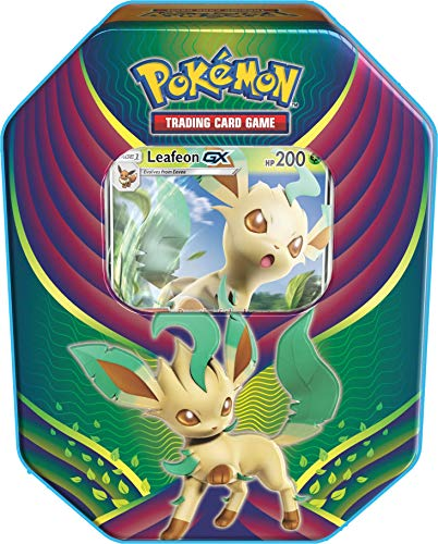 Large Celebration Tin - Pokemon TCG: 2018 Fall Evolution Celebration Tin- Leafeon-Gx + A Foil Gx Card + 4 Booster Pack