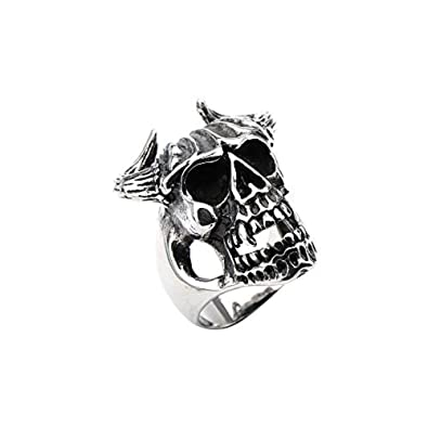 Amazon.com: INOX - Anillo de acero inoxidable para hombre ...