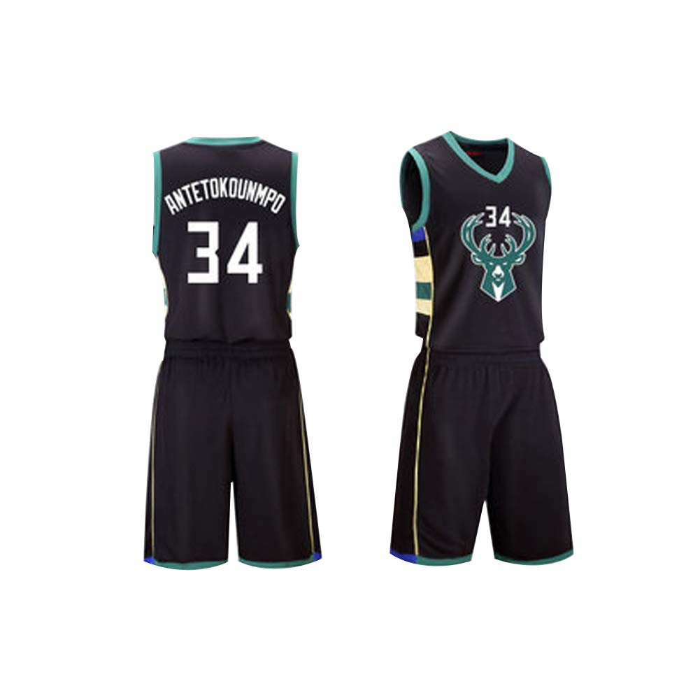 El Material del Jersey XS-XXL Hombres Retro Atletismo Milwaukee Bucks Jersey Jersey de Baloncesto Giannis Antetokounmpo 34