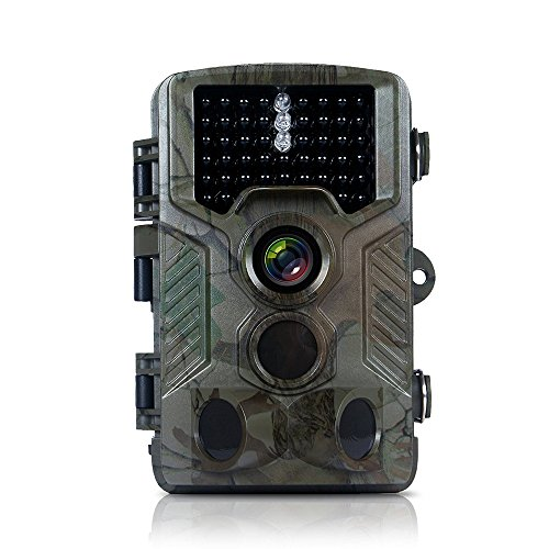 adventurers Trail Camera 16MP 1080P Scouting Hunting Camera 0.2S Trigger Night Vision 65 ft Infrared LEDs Waterproof I Wildlife Animal Game Camera for Wildlife Hunting and Home Security