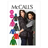 McCall Patterns M6614XM0 Misses'/Men's Tops and Jacket Sewing Pattern, Size XM (SML-MED-LRG)