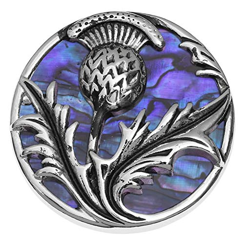 Scottish Jewellery Thistle (Talbot Fashions Tide Jewellery Inlaid Purple Paua Shell Scottish Thistle Brooch Pin)