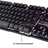 Keyboard, BeeMoon Wired Gaming Keyboard with Three