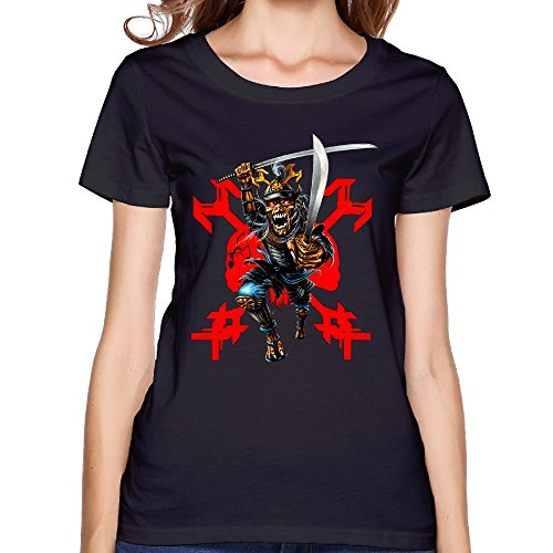 Womens Iron Maiden 22 Acacia Avenue Remember Tomorrow Short Sleeve Tshirt Sexy Slim High-quality 100% Slub Cotton