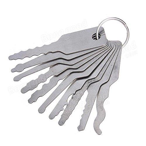 para principiantes y profesionales Dmaxia Juego de 10 llaves de doble cara para abrir cerraduras de puerta de coche